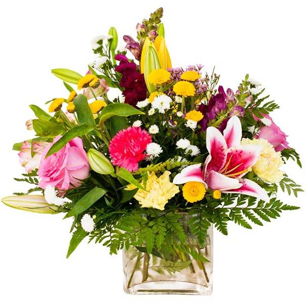 Красивые букеты из живых цветов в вазе